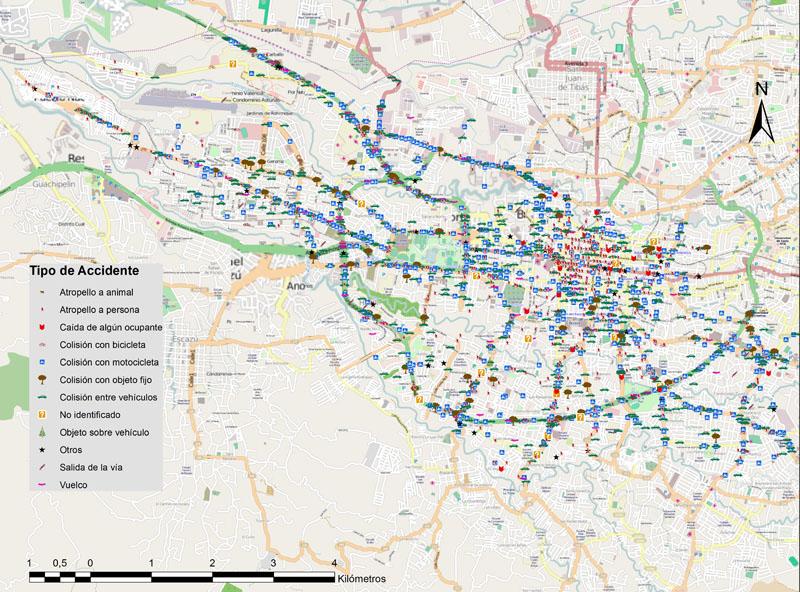 mapa de transito Elaboran mapa sobre accidentes en San José mapa de transito