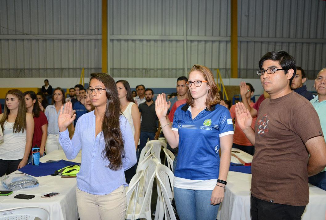 Juramentación de los atletas de la Universidad de Costa Rica que participarán en los juegos JUNCOS 2017.