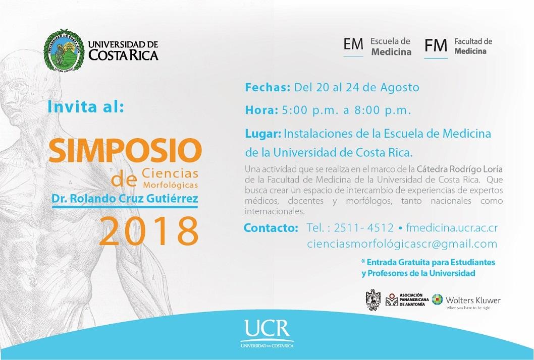 Calendario de Actividades UCR | Simposio de Ciencias Morfológicas ...